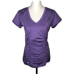 90 Degree  Reflex Sport Yoga Purple Rouched top L.